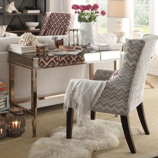 Inspire Q Kiefer Chevron Fabric Sloped Track Arm Hostess Chair