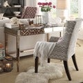 Kiefer Chevron Fabric Sloped Track Arm Hostess Chair