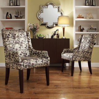 INSPIRE Q Jourdan Mod Geometric Sloped Arm Hostess Chair