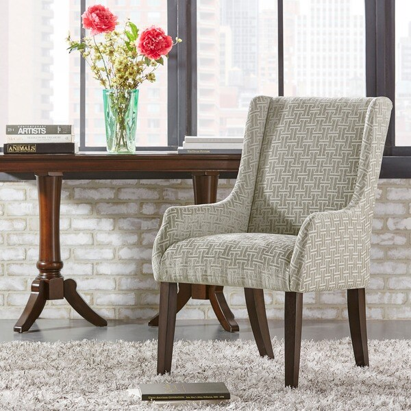 INSPIRE Q Jourdan Grey Link Sloped Arm Hostess Chair
