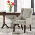Kiefer Grey Bracket Chain Fabric Sloped Track Arm Hostess Chair