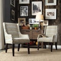 Inspire Q Kiefer Geometric Fabric Sloping Arm Hostess Chair