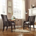 Inspire Q Kiefer Coarse Striped Sloping Arm Hostess Chair