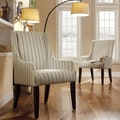 Kiefer Colby Striped Fabric Sloping Track Arm Hostess Chair