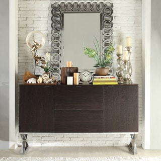 Inspire Q Buona Espresso X-Cross Base Sideboard Storage Buffet Server