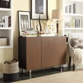 Buona Two-tone Brown Metal Base Sideboard Storage Buffet Server