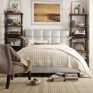 INSPIRE Q Fenton Silver Panel Upholstered Platform Bed