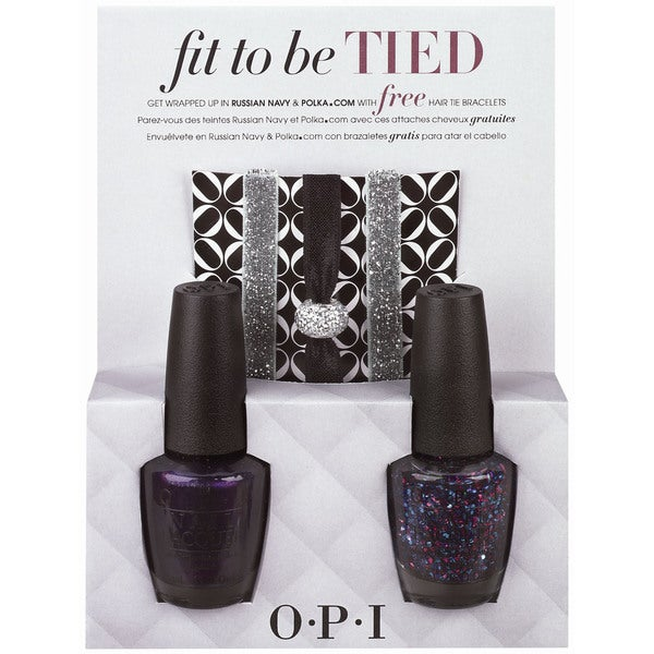 OPI Fit To Be Tied Holiday Duo #2 Nail Polish Set with Hair Ties