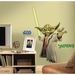 Star Wars: Clone Wars Yoda Peel and Stick Giant Wall Decal