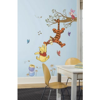Winnie the Pooh Swinging for Honey Peel and Stick Giant Wall Decals