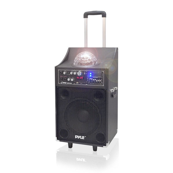 Pyle PSUFM1049A 600W Disco Jam Bluetooth 2-way PA Speaker System