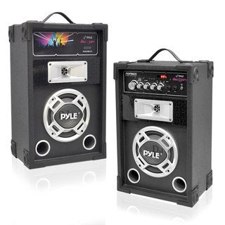 Pyle PSUFM625 Pair of 600 Watt Disco Jam 2-way PA Speakers