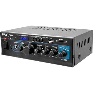 PyleHome PTAU55 Amplifier - 240 W RMS - 2 Channel - Black