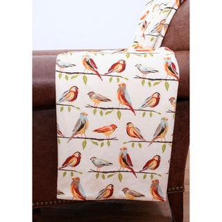 Makayla Birds Printed Microplush Throw