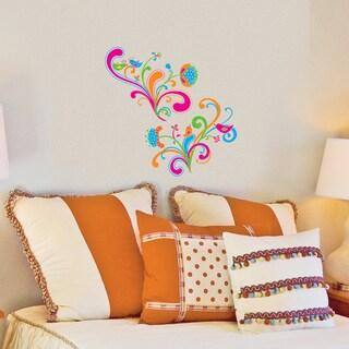DCWV Glitter Whimsy Flowers Wall Art