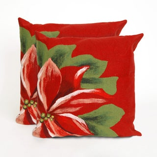Floral Indoor/Outdoor 20-inch Throw Pillows (Set of 2)