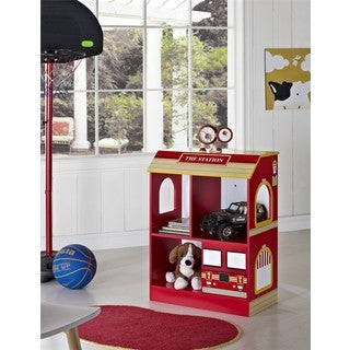 Kids Firetruck 2-shelf Bookcase