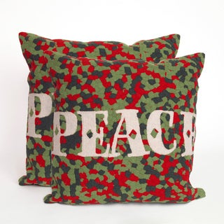 Confetti Peace 20-inch Throw Pillows (Set of 2)