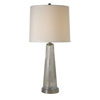 Chiara Chrome Reeded Glass Table Lamp