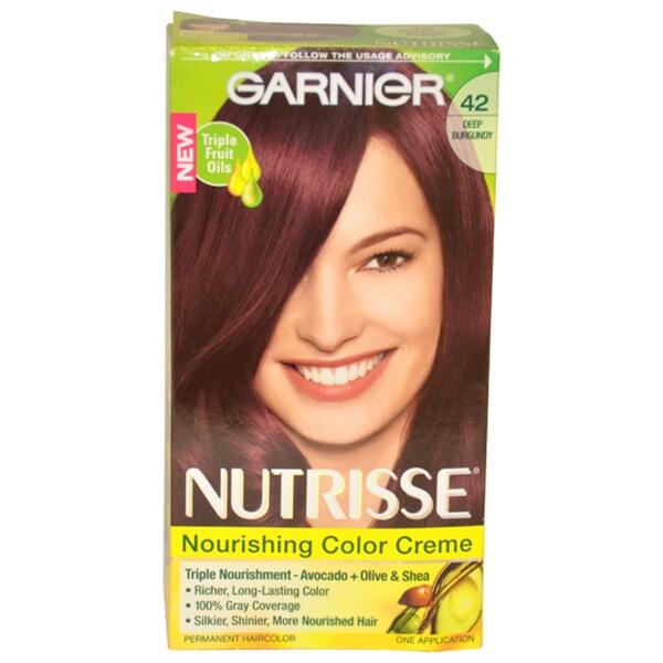Garnier Nutrisse Nourishing Color Creme # 42 Deep Burgundy 1-application Hair Color