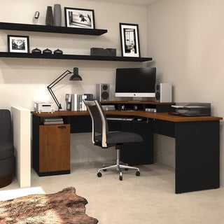 Bestar Hampton Corner Workstation Overstock Shopping