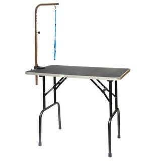 Go Pet Club Pet Aluminum and Steel Dog Grooming Table with Arm
