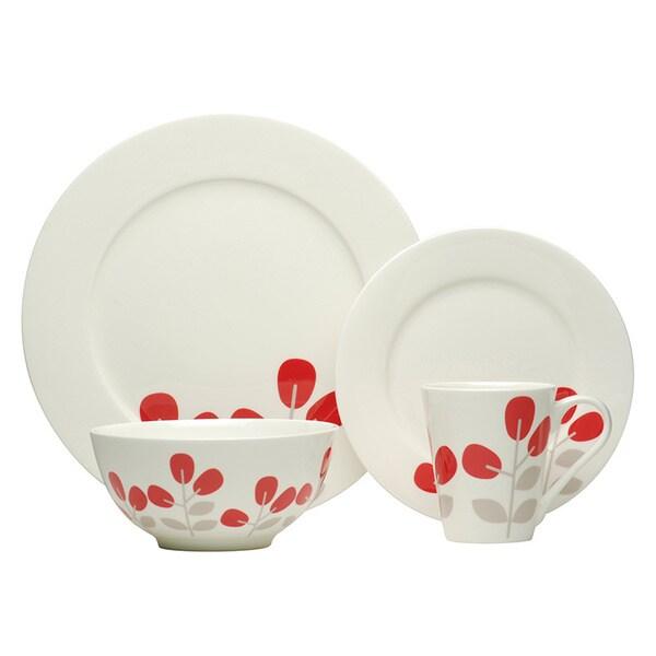 Red Vanilla Winterberry Red 16-piece Dinnerware Set