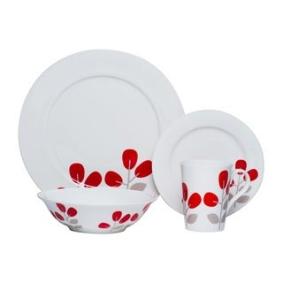 Red Vanilla Winterberry Red 16-piece Dinnerware Set