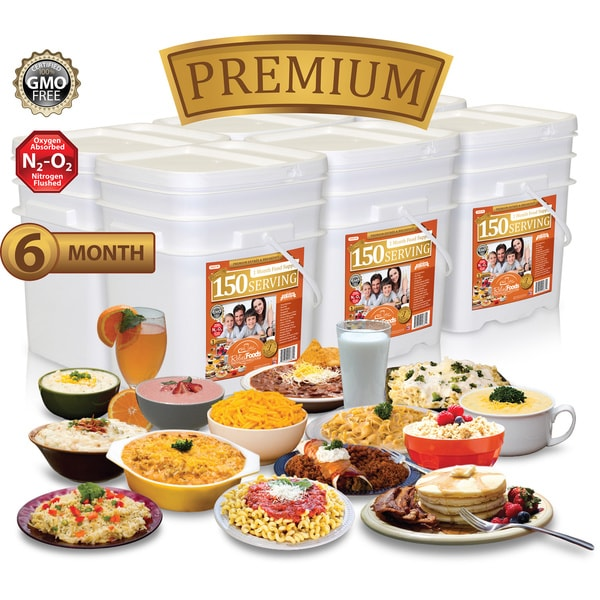 Relief Foods 6 Month Premium Emergency Food Supply (900 Servings)