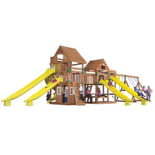 Backyard Discovery Safari All Cedar Swingset