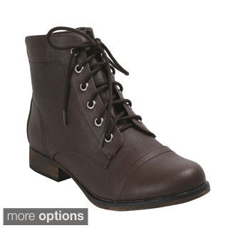Breckelle Women's 'Georgia-41' Lace-up Combat Boots