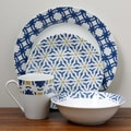 Oneida Blue Capella 16-piece Dinnerware Set