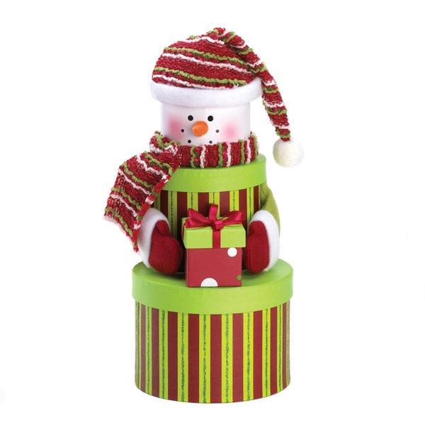 Tiered Snowman Gift Box Set