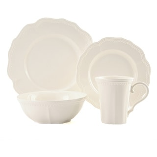Red Vanilla Classic White 16-piece Dinnerware Set