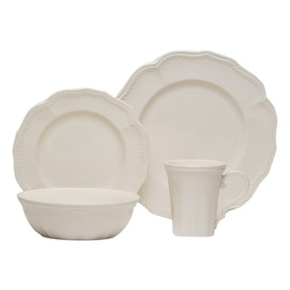 Classic White 16Pc Dinner Set w/Coupe Bowl