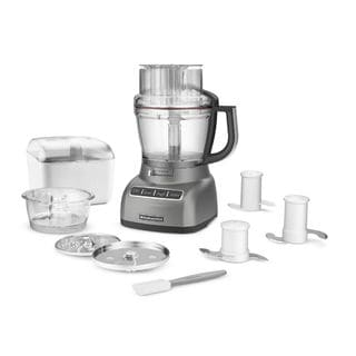 KitchenAid KFP1333CU Contour Silver 13-cup ExactSlice Food Processor