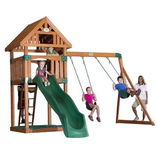 Backyard Discovery Trek All Cedar Swingset