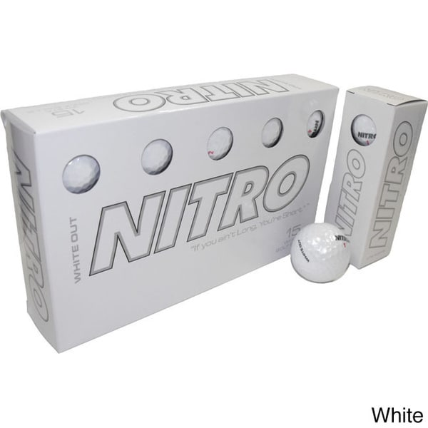 Nitro White Out (6 Packs of 15 Balls)