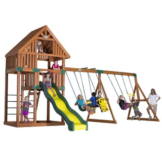 Backyard Discovery Quest All Cedar Swingset