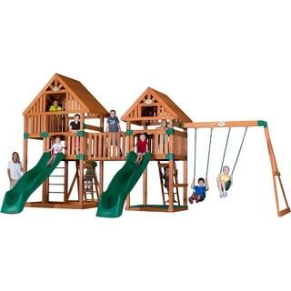 Barkyard Discovery Vista Cedar Swingset