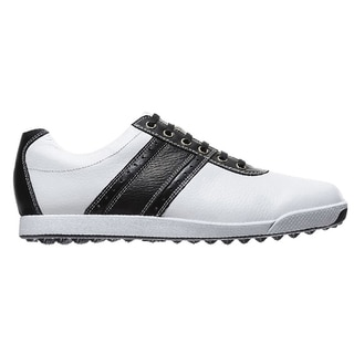 Footjoy Mens Contour Casual White/ Black Golf Shoes