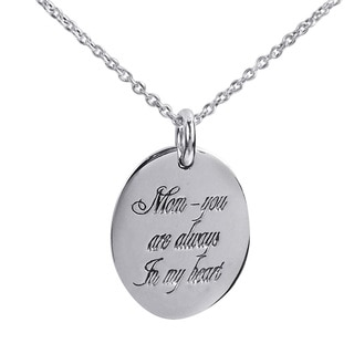 'Mom, You Are Always In My Heart' .925 Silver Pendant (Thailand)