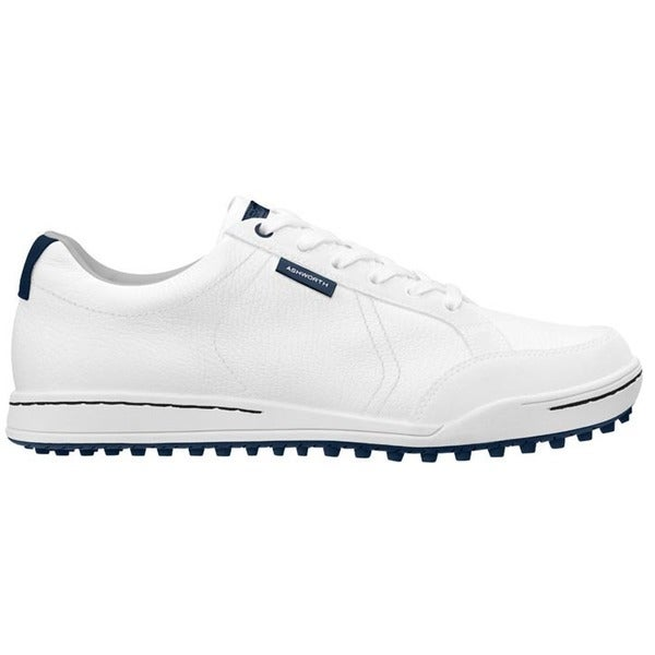 Ashworth Men's Cardiff White/ Dark Blue Golf Shoes