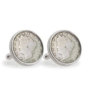 American Coin Treasures Liberty Nickel Sterling Silver Cuff Links
