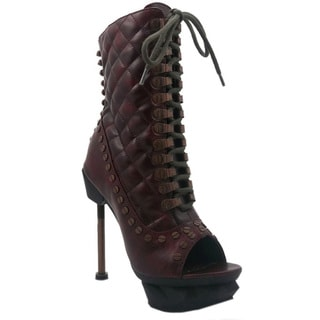 HADES IXX Women's Quilted Stitched Ankle-high Boots