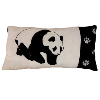 Panda Black/ White Accent Throw Pillow