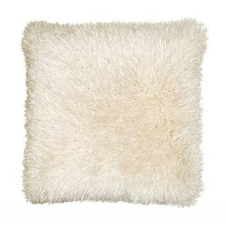 LNR Home Senses Beige Shag 18-inch Square Accent Throw Pillow