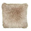 Senses Shag Natural 18-inch Square Accent Throw Pillow