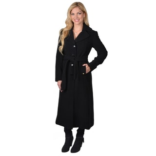 Ellen Tracy Women's Belted Button-up Coat