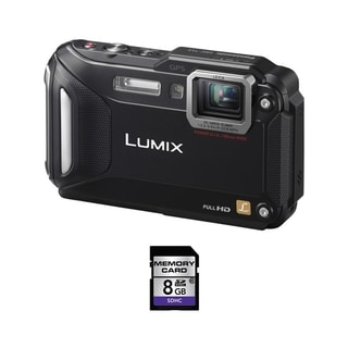 Panasonic Lumix DMC-TS5 Waterproof Black Digital Camera 8GB Bundle